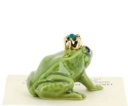 Birthstone Frog Prince May Simulated Emerald Miniatures by Hagen-Renaker image 4