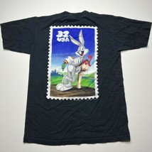 Vintage 90s Looney Tunes Stamps Bugs Bunny Graphic T Shirt Size S/M Cartoon - £17.94 GBP