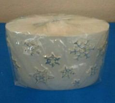 Silver Snowflake Candle - $17.77