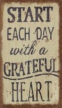Start Each Day With A Grateful Heart Magnet - $7.99