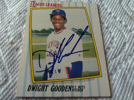 1987  DWIGHT  GOODEN   HAND  SIGNED  AUTOGRAPH  FLEER  LEAGUE  LEADERS #... - $19.99