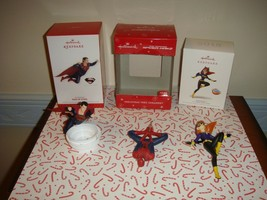 Hallmark 2013 Man Of Steel, 2014 The Amazing Spider-Man 2, 2018 Batgirl ... - $36.99