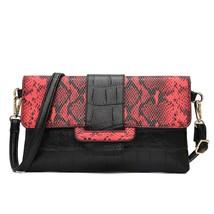 Luxury New Fashion Handbag Clutch Snake Skin Soft Shoulder Messenger Bag... - $29.99