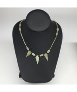 "12.9g,2mm-27mm, Small Green Nephrite Jade Arrowhead Beaded Necklace,19"",... - $4.75"