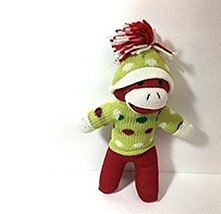 Green Poka Dot Sock Monkey - $7.91