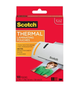 "NEW Scotch 3M Thermal Laminating Pouches 5 Mil 100/Box 5"" x 7"" TP5903-100 - $16.05"