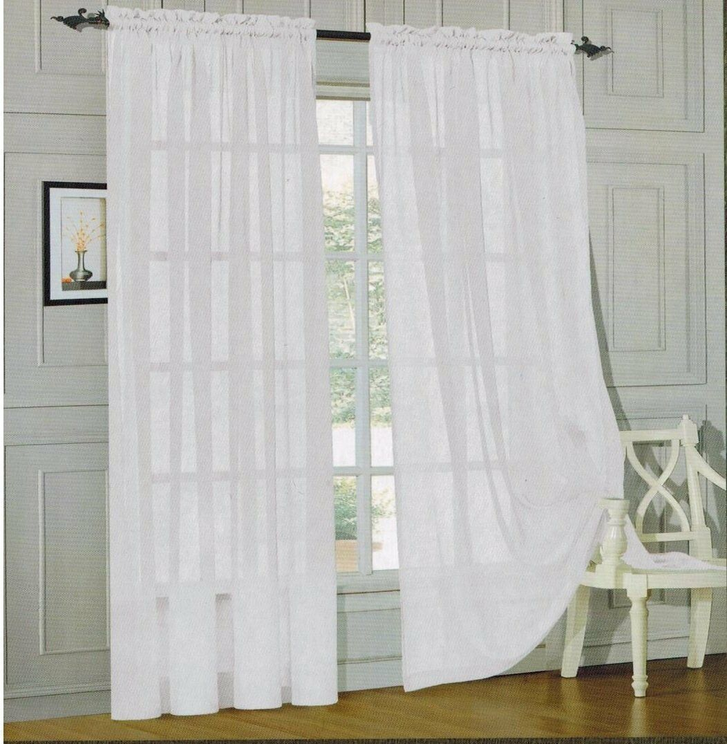 Primary image for MONTE CARLO SUPER WIDE TAILORED PAIR SHEER VOILE CURTAINS