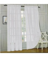 MONTE CARLO SUPER WIDE TAILORED PAIR SHEER VOILE CURTAINS - $19.99