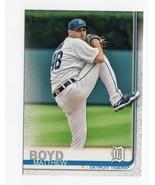 2019 Topps Base Trading Card #93 Matthew Boyd - $0.99