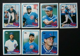 1989 Topps Traded Chicago Cubs Team Set of 7 Baseball Cards - $3.00