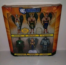 JUSTICE LEAGUE UNLIMITED ATTACK FROM THANAGAR 6 FIGURES PARAN DUL DC UNI... - $76.67