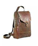 Jack Georges Voyager Collection Small Convertible Crossbody Backpack Lea... - $99.00