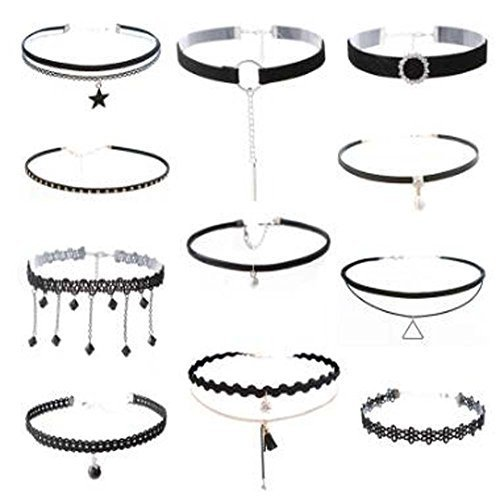 Fashion Necklace 11 Pcs Choker Collar Girls Lady All-Purpos Style