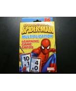Spiderman Spider Sense Multiplication Flash Cards Learning Game Marvel 2009 - $9.79