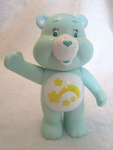 "CARE BEARS Green Wish Bear 4"" Rattle Plastic Vintage Figure Playmates To... - $9.98"