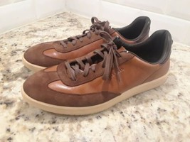 Cole Haan GrandPro Tennis Sneaker Brown Leather Casual Shoes Mens Sz.10.5 M  - $28.04
