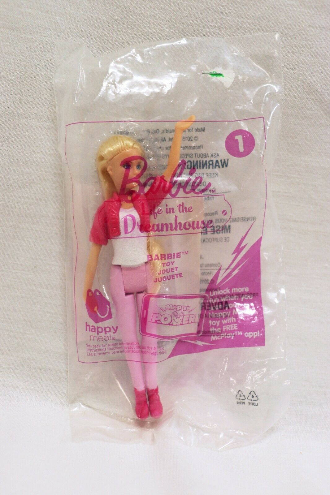 VINTAGE SEALED 2015 McDonald's Life in the Dreamhouse Barbie Doll - $14.84
