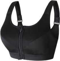 Newlashua Women's High Support Push Up Zip Front Close Padded Sports Bra XL - $26.52