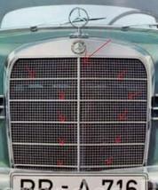 Alu Grill Moulding trim SET OF 11 Fit For Mercedes Benz W121 Ponton  - $84.06