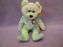 TY Beanie Babies Birthday Bear With Hang Tag Plastic Encased - $2.48