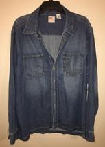 Vtg Levi's Dry Goods Blue J EAN Shirt Mens Large 90s Denim Work Rare - $46.75