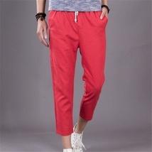 The new summer mens pants men loose linen pants casual pants image 7