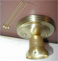 3 chain brass LIGHT FIXTURE for vtg 30S ART DECO SHADE NEW ready to hang! - $49.50