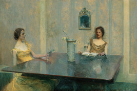 A Reading Two Young Woman 1897 American Painting By Thomas Wilmer Dewing Repro - $10.96+