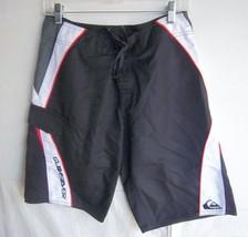 QUIKSILVER - Men's Black/Red/White Board Shorts - Size 30 - $21.99