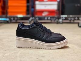 Nike Air Jordan 1 Retro Womens Low Lifted Wedge Shoes Black (AO1334-014)... - $84.14