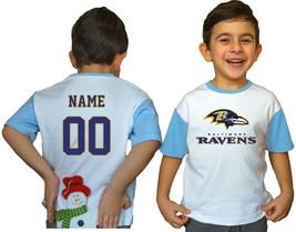 Baltimore Ravens Kids Tee Shirt Personalized Football NFL Logo Youth Jer... - $9.90