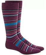 Mens Dress Socks Variegated Stripe Purple Alfani Alfatech 1 Pair $10 - NWT - $3.95