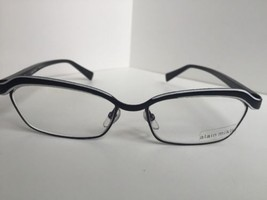 New ALAIN MIKLI AL1022 AL 1022 0002 55mm Black Eyeglasses Frame France - $180.53