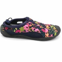 Lands End Womens Water Shoes Multicolor Pink Floral Low Top Slip On 7-8 ... - $23.75