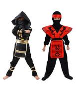 Halloween Ninja Kids Costume Red Black Child Boys Christmas Party Fancy ... - $34.64