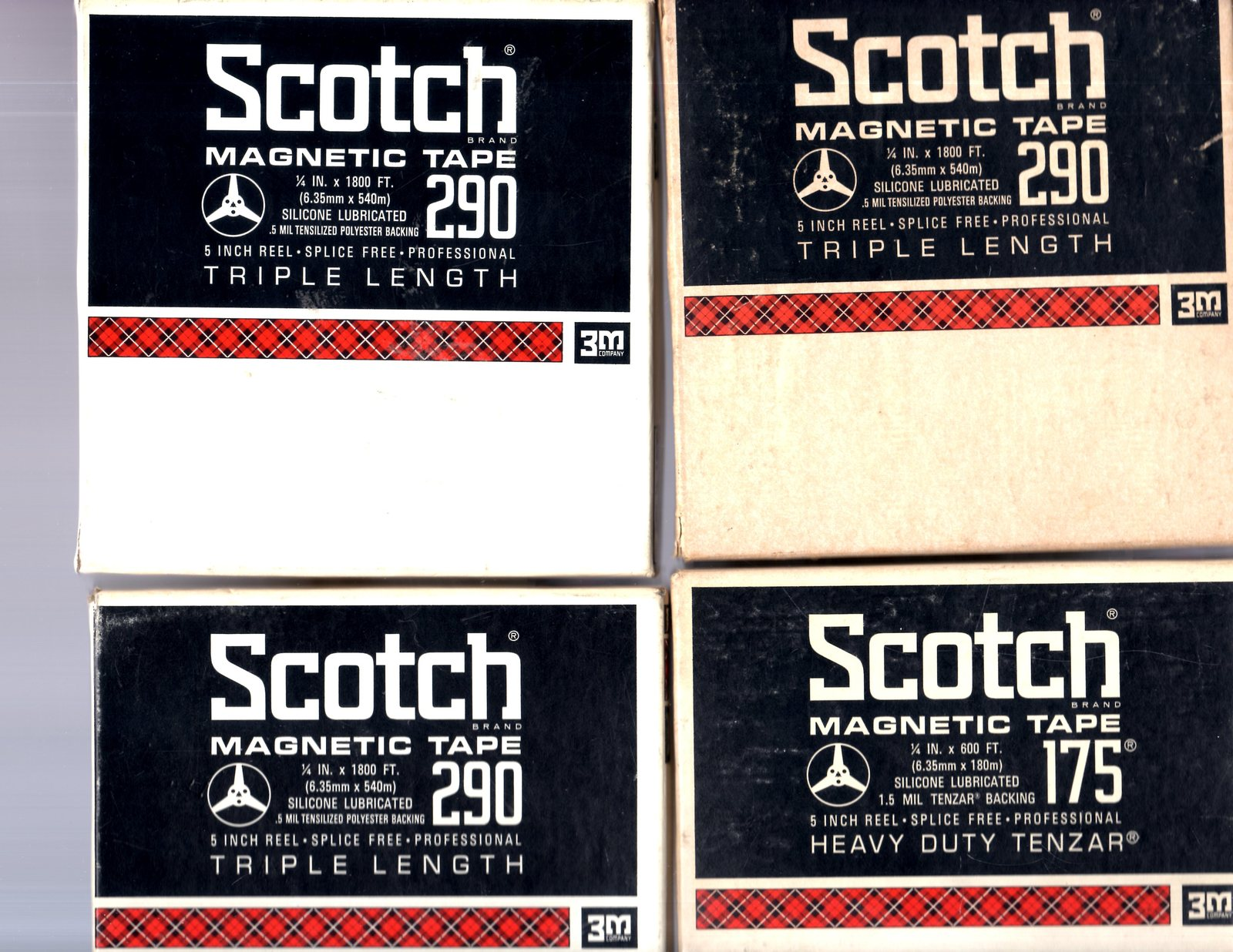 Reel-to-Reel Scotch Magnetic Tape (Lot of 4 Tapes)