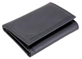 Nautica Men's Genuine Vintage Leather Credit Card Id Trifold Wallet image 2