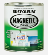 NEW!! Rust-Oleum Magnetic Black Primer For All Surfaces 1 qt. Base Coat ... - $34.99