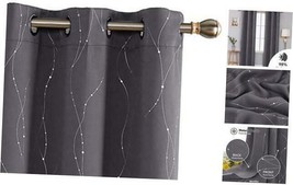 Deconovo Blackout Grommet Curtains Pair Thermal Insulated Light Blocking... - $70.78