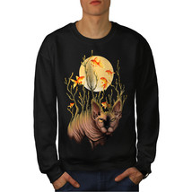 Cat Fish Moon Fashion Jumper  Men Sweatshirt - $18.99+