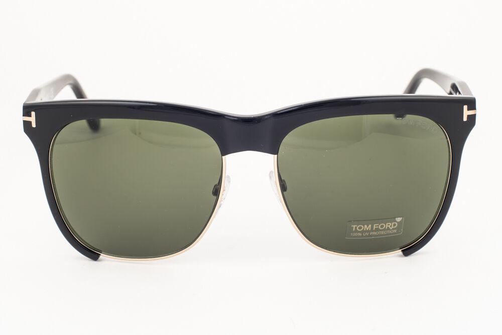 Tom Ford Thea Shiny Black / Green Sunglasses TF366 01G