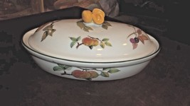 Royal Worcester Evesham Vale  Oval Casserole with Lid Pear finial - $58.00