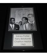 Sidney Poitier Harry Belafonte & Charlton Heston 1963 Framed 11x17 Photo... - $46.39