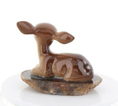 Hagen Renaker Miniature Tiny Deer Baby on Base Stepping Stones #2757 image 6