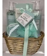 6pc Cucumber & Basil Brompton & Langley Spa Gift Set Scrub Lotion wash b... - $9.49