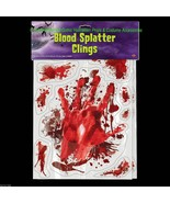 CAR DECAL CLING Outdoor Life Size BLOODY HAND PRINTS SPLATTER Window Doo... - $9.28