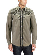 Men's Western Rodeo Style Cowboy Embroidered Tribal Print Dress Shirt image 11