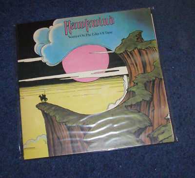 Hawkwind Warrior On The Edge Of Time Moorcock autograph vinyl LP