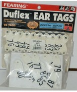 Fearing Duflex Ear Tags 2 Pc System Livestock ID Sheep Goat White Set 76... - $26.25