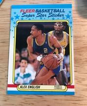 1988-89 Fleer Super Star Sticker ALEX ENGLISH -Nuggets #4 - $1.24